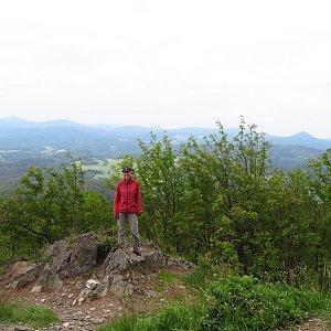Iveta Válová na vrcholu Hvozd (10.6.2020 10:03)