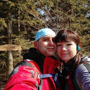 Brůča&Bubu na vrcholu Folvark (2.4.2018 12:30)