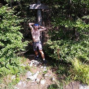 Honza na vrcholu Folvark (29.8.2019 13:21)