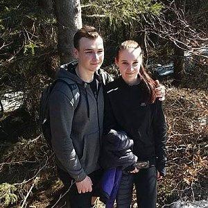 Antonie na vrcholu Folvark (31.3.2019 11:05)
