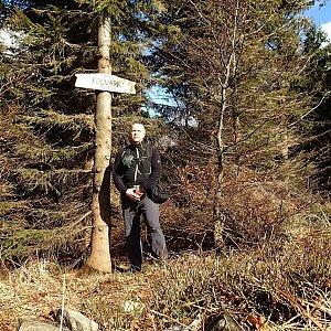 StandaK71 na vrcholu Folvark (2.4.2018 15:19)