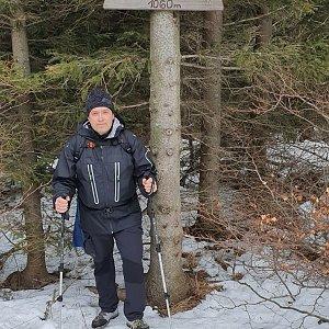 Jiří Gryz na vrcholu Folvark (18.1.2020 10:01)