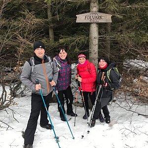 Kateřina Turčeková na vrcholu Folvark (18.1.2020 15:00)