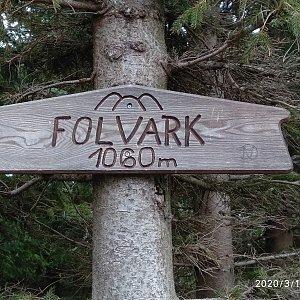 Alžběta Šlosarová na vrcholu Folvark (13.3.2020 10:15)