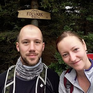 Paja&Tom na vrcholu Folvark (15.7.2018 9:45)