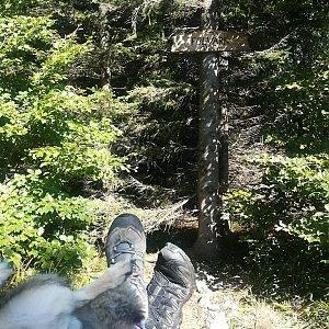 Michaela Hilscherová na vrcholu Folvark (9.9.2018 13:39)