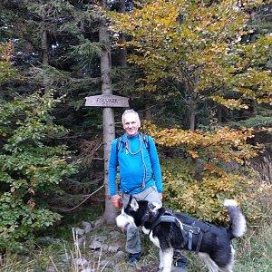 Joch a Dingo na vrcholu Folvark (10.10.2020 17:53)