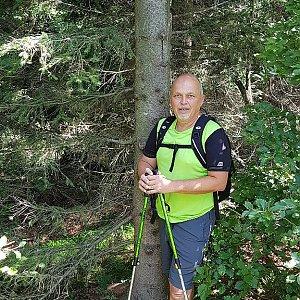 Fido a Myszka na vrcholu Folvark (12.8.2018 12:40)