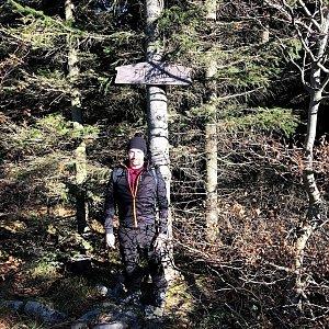 Vít Gruner na vrcholu Folvark (15.11.2020 11:36)