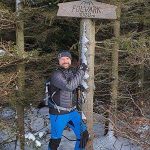 Radoss na vrcholu Folvark (2.1.2021 10:50)