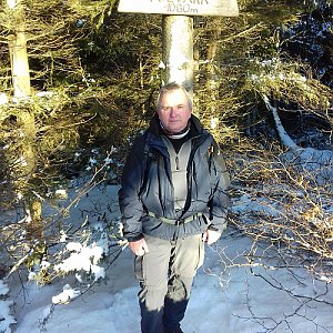 Michael na vrcholu Folvark (1.1.2021 14:24)