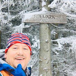 CERF1971 na vrcholu Folvark (9.1.2021 9:05)