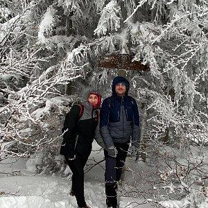 Nikalasova na vrcholu Folvark (30.1.2021 10:05)