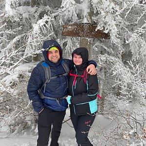 Veronika Hronková na vrcholu Folvark (30.1.2021 10:05)