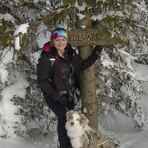 Adélečka na vrcholu Folvark (20.1.2019)