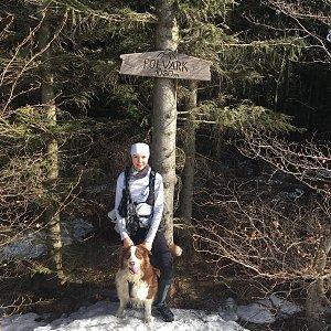 Markéta Čeníková na vrcholu Folvark (25.2.2021 11:05)