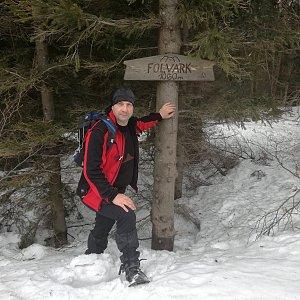 Jiří P na vrcholu Folvark (3.2.2019 11:56)