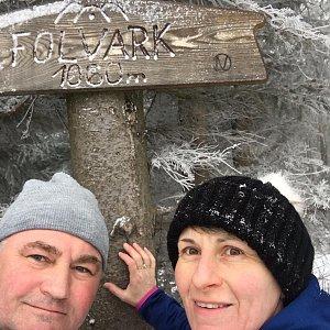 věrka na vrcholu Folvark (14.3.2019 12:00)