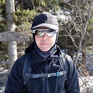 Pavel Skřičík na vrcholu Folvark (17.3.2019 9:42)