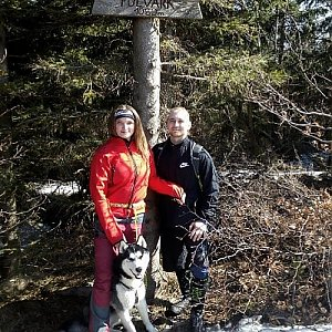 Nikol Podesvova na vrcholu Folvark (31.3.2019 11:00)