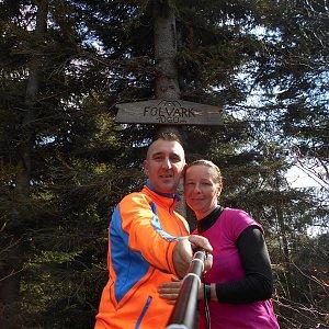 Romana Larischová na vrcholu Folvark (7.4.2019 10:08)