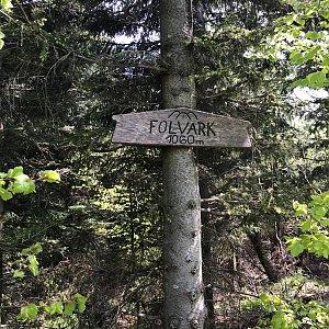 Veronika Spáčilová na vrcholu Folvark (5.6.2021 12:50)