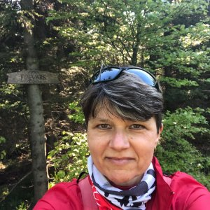 Radka Dubská na vrcholu Folvark (6.6.2021 7:59)