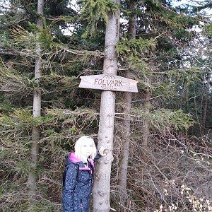 Ilona Mušálková na vrcholu Folvark (22.4.2019 13:50)