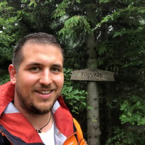Martin Kostřeba na vrcholu Folvark (26.6.2021 11:14)