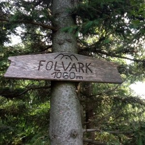 Alžběta Šlosarová na vrcholu Folvark (20.7.2021 8:43)