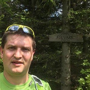 Radim Škrabánek na vrcholu Folvark (1.6.2019 11:07)