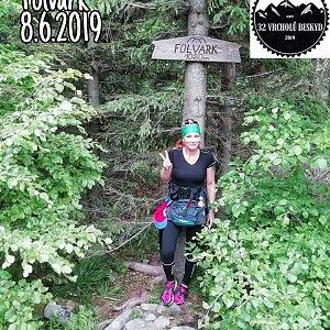 Zde Nka na vrcholu Folvark (8.6.2019 13:00)