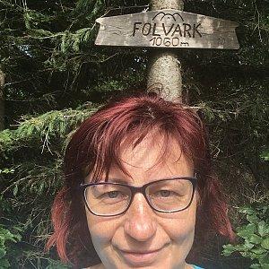 Kamila  Petrová na vrcholu Folvark (6.7.2019 14:59)