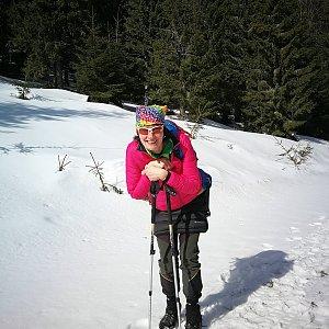 Petra Kosarkova na vrcholu Veľká lúka (8.3.2019 12:50)
