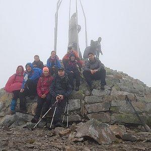 Denisa na vrcholu Homyak (30.6.2018 13:00)