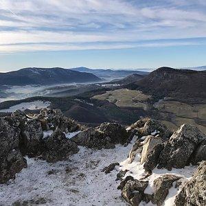 Terez Valčíková na vrcholu Vápeč (2.1.2020)