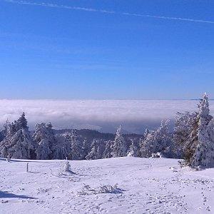 Roman Tigge na vrcholu Velká Rača (21.1.2020 11:54)