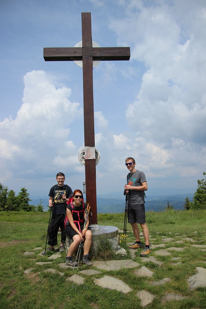 Denisa na vrcholu Velká Rača (9.6.2018 12:00)