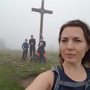Marcela Kubíčková na vrcholu Velká Rača (21.6.2020 12:34)