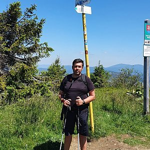 Jiří Gryz na vrcholu Velká Rača (5.7.2020 12:27)