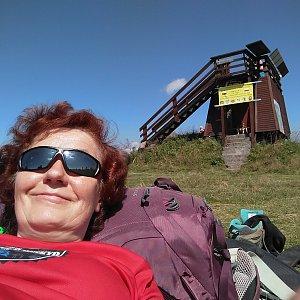Anna na vrcholu Velká Rača (8.8.2020 11:30)