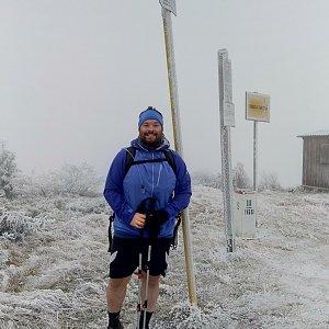 Jakub Špaček na vrcholu Velká Rača (12.11.2020 9:11)