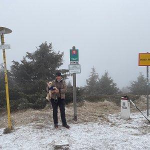 Magda na vrcholu Velká Rača (28.11.2020 12:30)