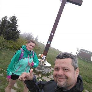 Ombre_Zamakejsi.cz na vrcholu Velká Rača (14.6.2020 15:21)