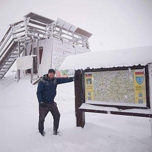 Bartek_na_cestach na vrcholu Velká Rača (16.1.2021 11:59)