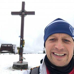 vito na vrcholu Velká Rača (23.1.2021 9:45)