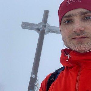 Wojtik na vrcholu Velká Rača (24.1.2021 15:28)