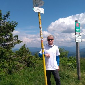 Jaroslav Macura na vrcholu Velká Rača (27.6.2021 12:40)