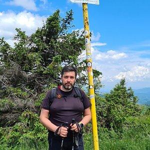 Jiří Gryz na vrcholu Velká Rača (27.6.2021 12:40)