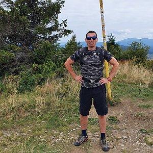 Tomáš na vrcholu Velká Rača (20.8.2021 11:20)